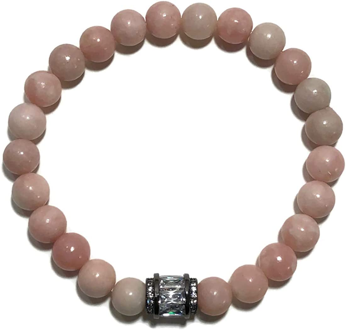 Stretch Chakra Zen Reiki Healing Energy Bead Jewelry Self-Care Wellness Wristband KarmaArm Passion Pink Opal Meditation Bracelet Boho Yoga Bead Mala
