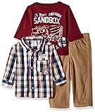 Little Rebels Baby Boys' 3 Piece Checkered Shirt