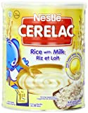 Nestle Cerelac, Rice with Milk, 14.11 Ounce Can (Pack of 24)