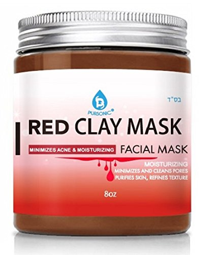 Pursonic Facial Mask Collection of Black Charcoal, Red Clay