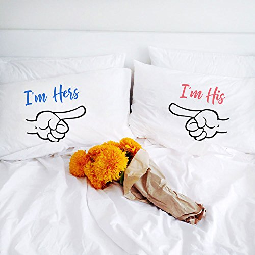 i m hers i m his personalized gift couple pillowcases wedding gift