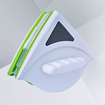 OUNONA - Escobilla limpiaparabrisas magnética de doble cara para cristal de 20 - 30 mm de grosor (verde): Amazon.es: Hogar