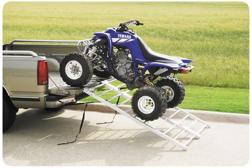 QuadBoss Aluminum ATV Ramp - Bi-Fold - 50in. W x 72in. L 3777 - Quadboss Bi Fold Ramps