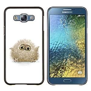 """Be-Star Único Patrón Plástico Duro Fundas Cover Cubre Hard Case Cover Para Samsung Galaxy E7 / SM-E700 ( Búho lindo del bebé"""" )"""