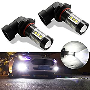 Botepon H10 9145 9140 LED Bulb for Fog Light or DRL, 2000Lumens Extremely Bright 3030 16-SMD Led Bulb 12V 24V (Pack of 2)