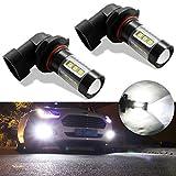 #10: Botepon H10 9145 9140 LED Bulb for Fog Light or DRL, 2000Lumens Extremely Bright 3030 16-SMD Led Bulb 12V 24V (Pack of 2)