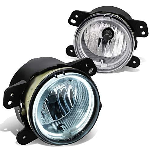 DNA Motoring FL-HA002-CH Bumper Halo Ring Fog Light (Chrysler 300/PT Cruiser/Journey/Magnum/Wrangler, Pair) ()