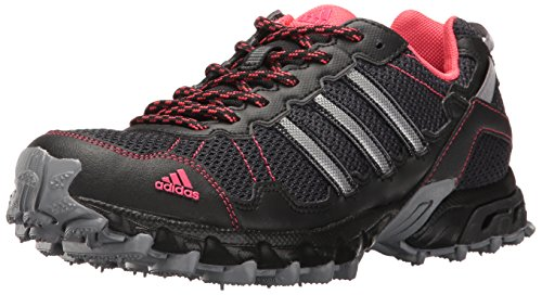 adidas Women's Rockadia Trail W Running Shoe, Grey/Black/Pink, 8 M US