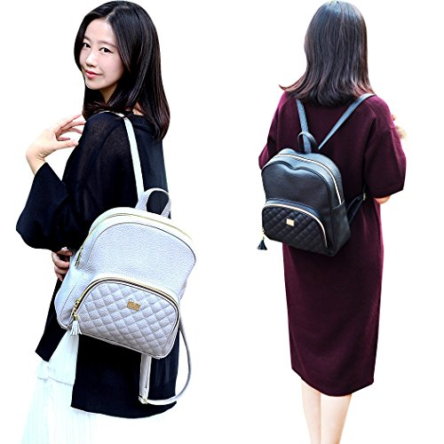 Small Backpacks Shape Round bags Design Women's Camel Copi Dark Quilted Lovely feminine Ivory Point nXzBvqIUxq