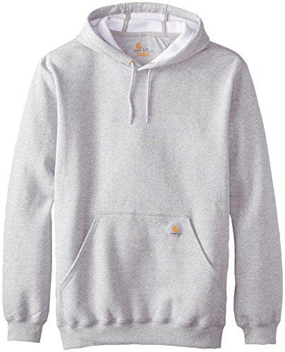 (Carhartt Men's Big & Tall Midweight  Hooded Sweatshirt,Heather Gray,2X-Large Tall)