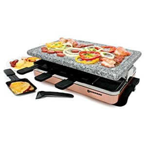 Swissmar - 8 Person Zermatt Raclette with Granite Stone