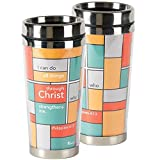 All Things Through Christ Multicolored 16 Ounce Stainless Steel Travel Tumbler