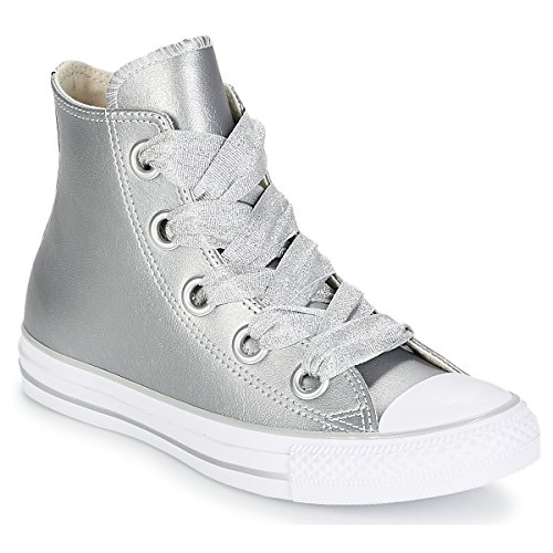 Taylor Eyelets Big White Sneakers Top Hi Metallic Low Converse Women's CTAS Silver Chuck 499 Multicolour Silver q6CnEX