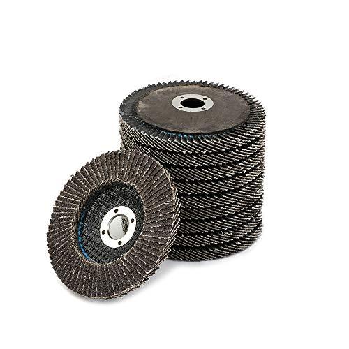 Flap Disc Grinding Wheel Aluminum Oxide Sanding Disc For Angle Grinder 4 inch 10-Pack (120#) ()