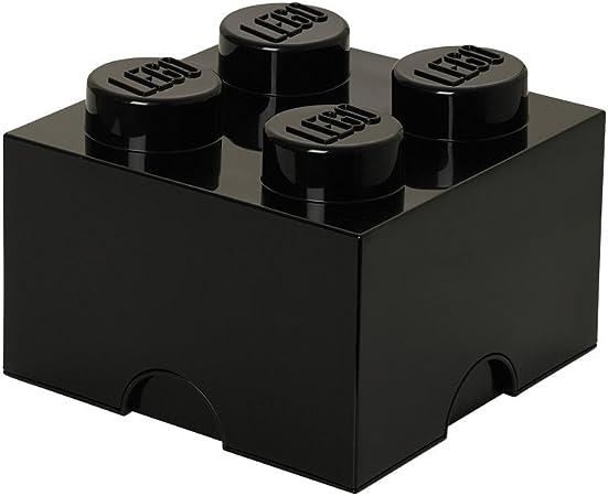 LEGO - Caja de almacenaje para Minifiguras con diseño de ladrillo 4, Color Negro (40030633): Amazon.es: Hogar