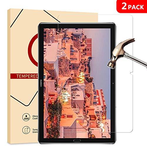 [2-Pack] Huawei MediaPad M5 Screen Protector,Jbao Direct [Anti-Fingerprint] [Bubble-Free] [HD-Clear] Premium Tempered Glass for Huawei MediaPad M5 10.8 Tablet (10.8 inch)