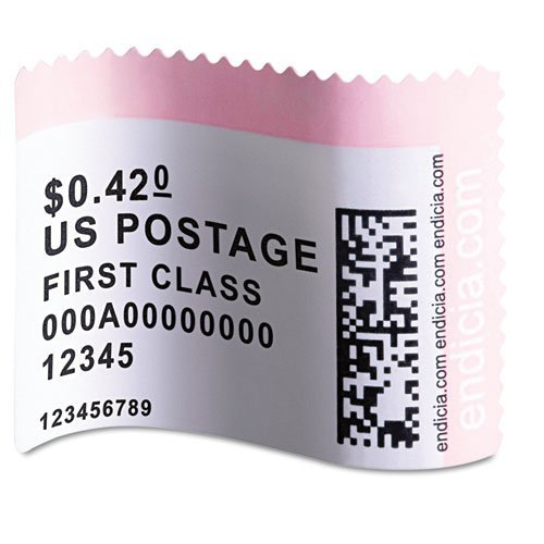DYMO 30915 LabelWriter Postage Stamp Labels, 1-5/8 x 1-1/4, White, 200/RL Dymo Stamps Postage Labels