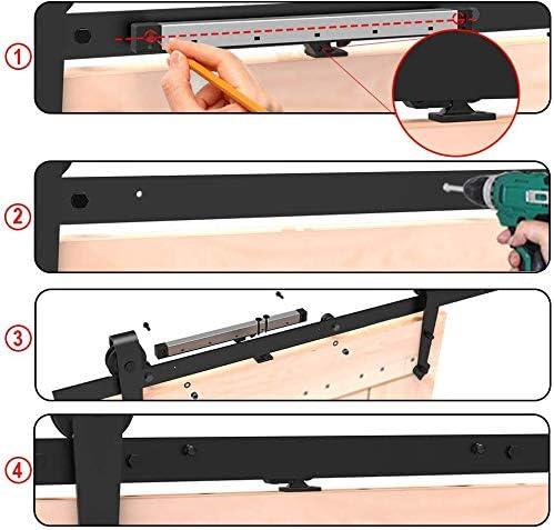 Mecanismo de cierre suave CCJH para remisi/ón de kit de riel de hardware de puerta de granero deslizante