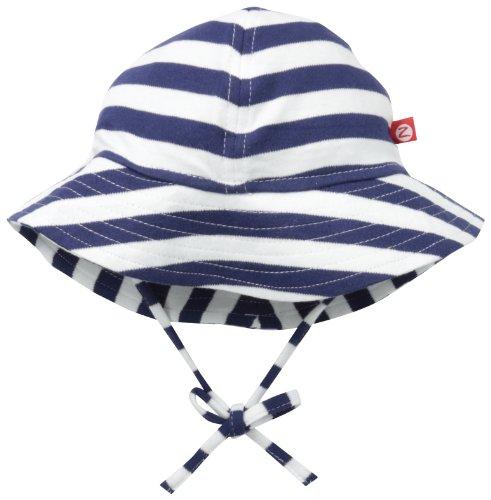 Zutano Unisex Baby UPF 30+ Sun Protection Hat,  Navy/White,  24 Months (Hat Cotton Zutano)