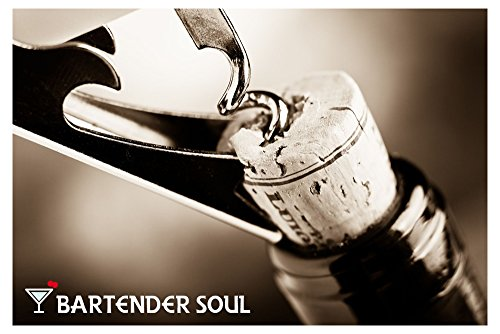 Professional Corkscrew (Pakka Wood), Double Lever with Damping, Excellent Wine Opener, Choice of Sommeliers and Waiters, Capsules Cutter, Strong 420 Grade Stainless Steel for Beer Bottles by Bartender Soul (Image #6)