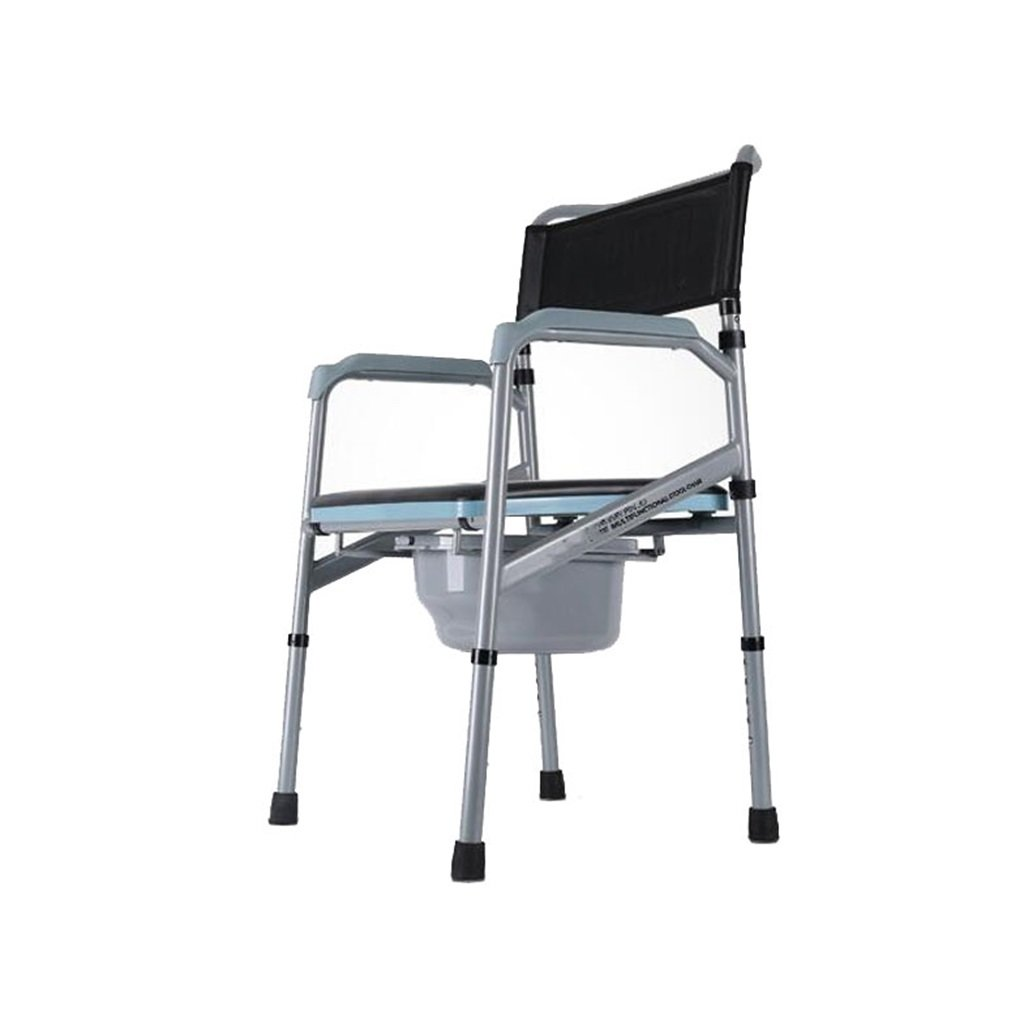 快適な高齢者の人のトイレシート寝たきりの妊婦のトイレの椅子のバスルームのアンチスリップ調節可能な高さのバスルームシャワーのスツールの障害者トイレチェアMax.300kg B07DHH649N