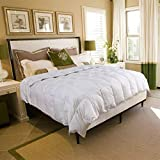 Lightweight Goose Down Comforter Twin Size for All Season  - 75% Down Duvet Insert with Corner Tabs 100% Cotton Shell Hotel Quality - Hypoallergenic Comfy