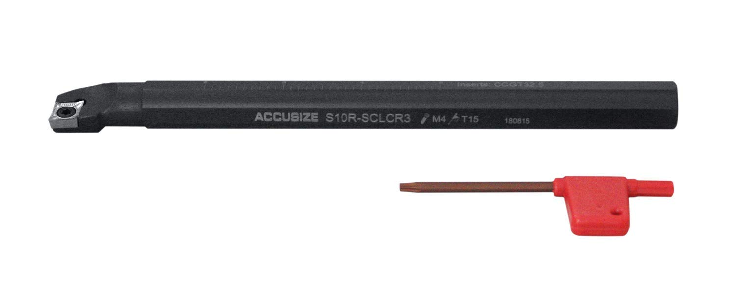 Right-hand Sclcr Indexable Boring Bar with 5//8 by 8 Overall Length
