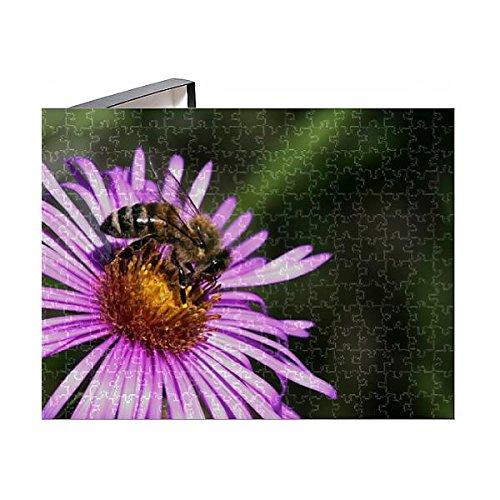 Media Storehouse 252 Piece Puzzle of Honey Bee -Apis mellifera- on an Alpine Aster -Aster alpinus (12541501) ()