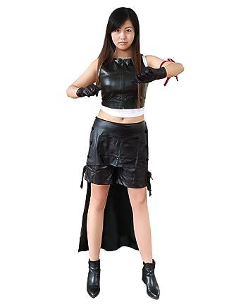 Amazon.com  DAZCOS US Size Anime Tifa Lockhart Cosplay Costume Black   Clothing 525344fba4