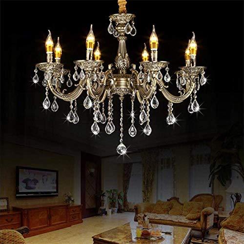 Eight Arm Chandelier - 8 Arm Chandelier Modern Ceiling Light Luxury Transparent Crystal Pendant Lights Bronze Zinc Alloy H57CM x W57CM