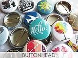 """100 Random Buttons Pins Mix – 1"""" Mini Bulk Resale Wholesale Loose Lot"""