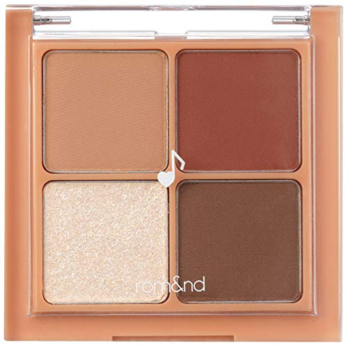 [rom&nd] Better Than Eyes 6 colors | Basics Eyeshadow Palette,Velvety Texture, long-lasting makeup, Galaxy pearl glitter…