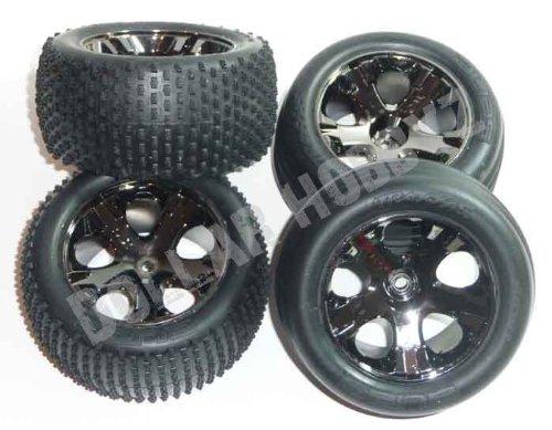 Traxxas RUSTLER VXL TIRES & WHEELS Front&Rear Rims (Alias Traxxas Tires)