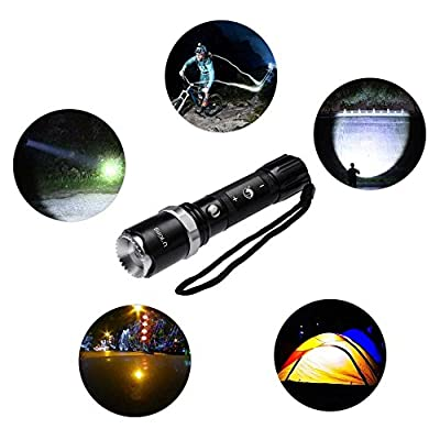 Rechargeable Flashlight, 1000 Lumens LED Torch with Charge and 5 Light Modes by U`King