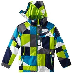 Marmot Boy's Mantra Geo Jacket, Lime Geo, Medium