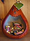 Halloween Decoration - Pumpkin Gourd Candy Container - Made in the USA