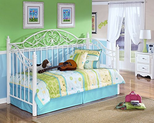 Ashley Furniture Signature Design - Exquisite Day Bed - Classic Style Trundle Bed - White