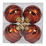 Vickerman 576397-4'' Copper Shiny-Matte Mirror Ball Christmas Tree Ornament (4 pack) (M151488)