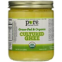 Grassfed Organic Cultured Ghee - Pure Indian Foods(R) Brand (2-Pack)
