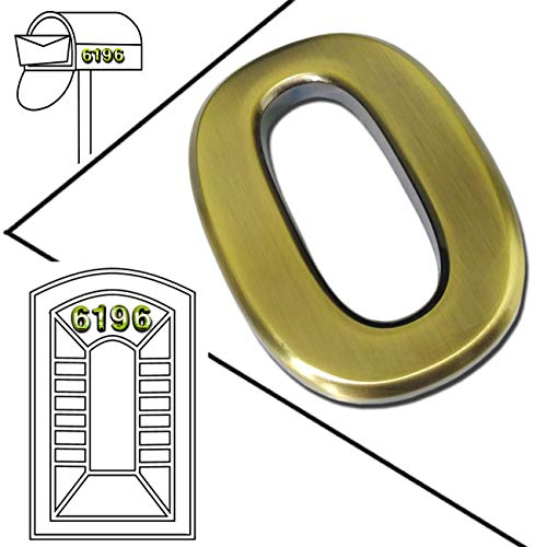 0-9 , Bronze Pack 0 to 9, Bronze 10 Pack 2-3//4 self Adhesive Door House Numbers and Street Address Plaques Numbers for Residence and Mailbox Signs. 2-3//4 10 Pack