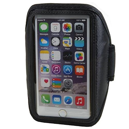 Neopren Sport Armband für Smartphone Microsoft Lumia 650 4,7 - 5,1 Zoll Armtasche Hülle Tasche Etui Case Cover schwarz
