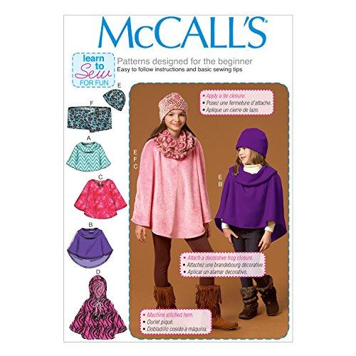 McCall's Patterns M7012 Children's/Girls' Ponchos, CX (XSM-SML) ()