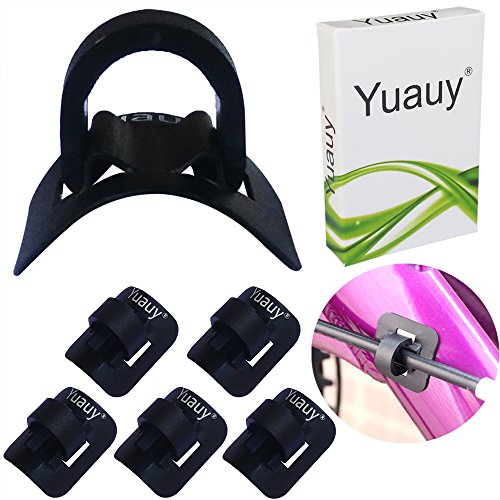 - Yuauy 5 Sets (5 PCs Base + 5 PCs Clip) MTB Bike Cable Guide Brake Cable Shift Cable Derailleur Cable Base Guide Clip Fitting Line Tube Housing Durable Alloy