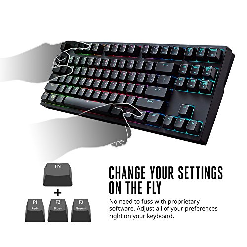 Cooler Master MasterKeys Pro S RGB Mechanical Gaming Keyboard, Cherry MX Brown (Silent Tactile), RGB LED, TenKeyless (Small)