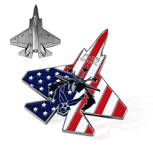 US Air Force Challenge Coin Colorized F-35 Lightning II Fighter Jet Military Coin for -