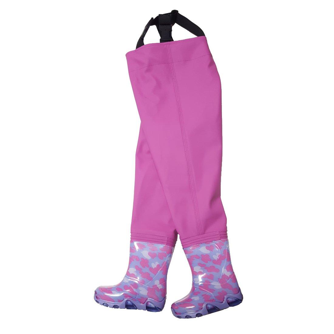 Kinderwathose Pink 24//25 Matschhose Kinder wathose Anglerhose Fischerhose Spielhose