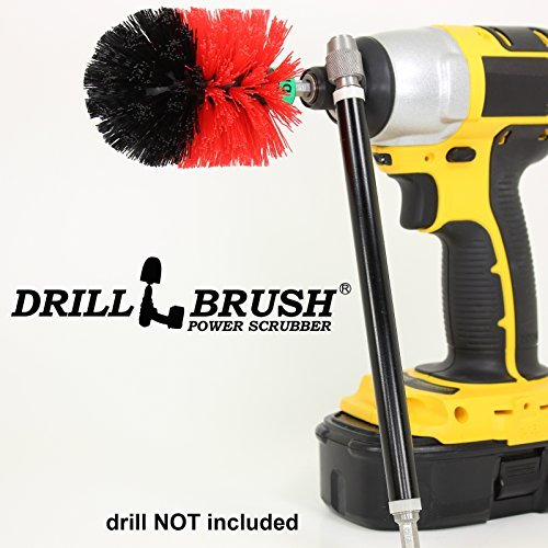 Mini Size Original Drillbrush Garage and Shop Brush with Extension by Drillbrush