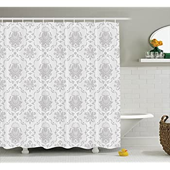 Amazon.com: Ambesonne Grey Shower Curtain Decor, Classic Victorian ...