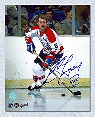 ROD LANGWAY Washington Capitals SIGNED 8x10 Home Photo - Autographed NHL Photos