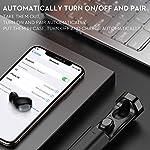 Cuffie-Bluetooth-50-Auricolari-Bluetooth-Bokman-T2-TWS-Leggeri-Hi-Fi-Cuffie-Cancellazione-Rumore-Auricolari-Sport-IPX5-Earbuds-con-Mic-per-IOS-e-Android-con-Scatola-Ricarica-Portatile-Nero